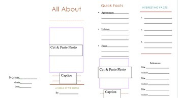 Animal Research Project Brochure Template