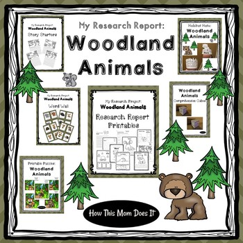 Animal Research Project | Crafts and Printables - Woodland Animals