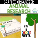 Animal Research Project Graphic Organizer Google Slides Distance Learning