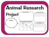 Animal Research Project-Graphic Organizers, habitat, adaptations, locations