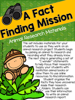 Animal Research Project Materials
