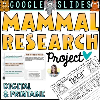 Animal Research Project (Non-Fiction Text)