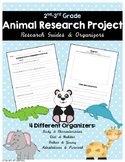 Animal Research Project Organizers for 2nd & 3rd Grade
