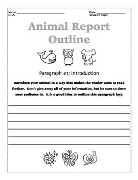 Animal Research Project Outline