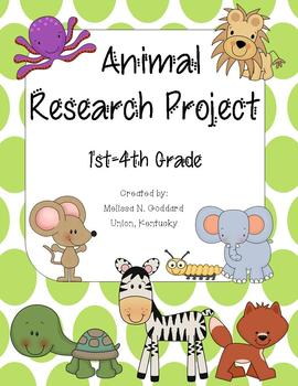 Animal Research Project Packet