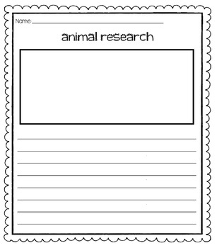 Animal Research Project Printables (Small & Quick)