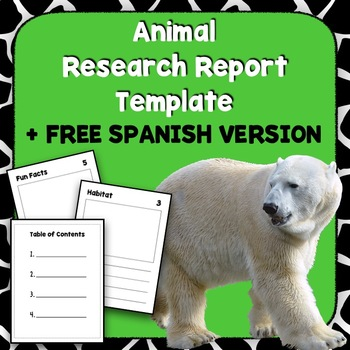 Animal Research Project Template + FREE Spanish Version