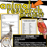 Animal Research Project with EDITABLE PowerPoint Templates and Timers