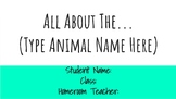 Animal Research Project with Google Slides (Structure, Fun
