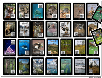 Animal Research QR Codes: Writing and Listening Center (Now Includes 40 Animals)