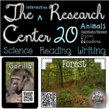 Animal Research QR Codes: Writing and Listening Center