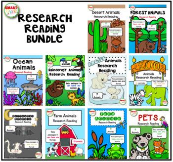 Animal Research Reading BUNDLE