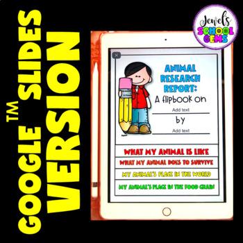 Animal Science Activities (Research Report Flipbook with Rubrics)
