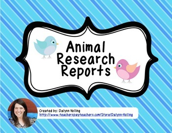 Animal Research Report Booklet