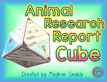 Animal Research Report Cube