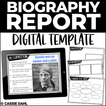Historical Person Biography Report (Digital Templates)