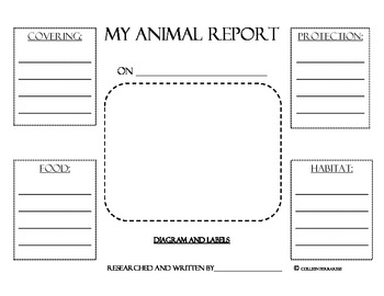 Animal Research Report Graphic Organizers By Colleen border=