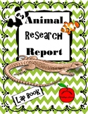 Animal Research Report / Lap Book
