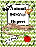 Animal Research Report / Lap Book