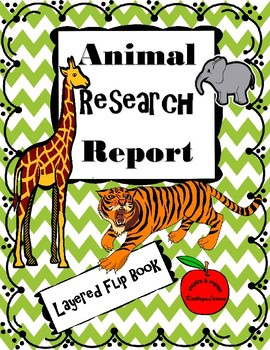 Animal Research Report / Layered-Flip Book