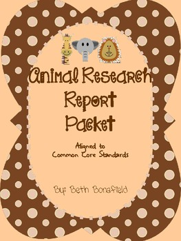 Animal Research Report Packet-Aligned to Common Core 2.W.7