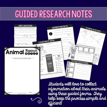 Animal Research Report Project - 3rd, 4th, 5th grade (Common Core aligned)