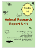 Science Animal Research Report Project Booklet