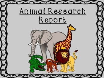 Animal Research Report with Structured Graphic Organizers and Draft Templates