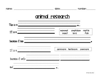 Animal Research Report/Book