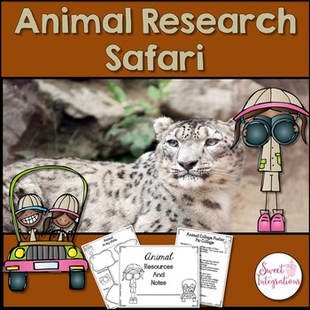 ANIMAL RESEARCH PROJECT - In Depth Research, Google Slides, and Activities