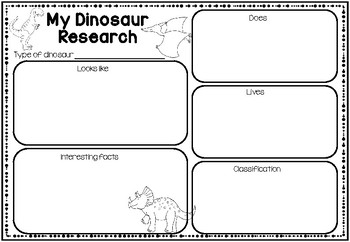 Animal Research Graphic Organizer