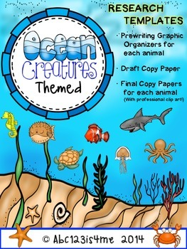 Animal Research Templates- Ocean Theme