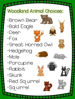 Animal Research Templates- Woodland Theme