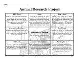 Animal Research Tic-Tac-Toe Board