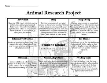 Animal Research Tic-Tac-Toe Board