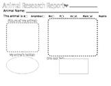 Animal Research Worksheet