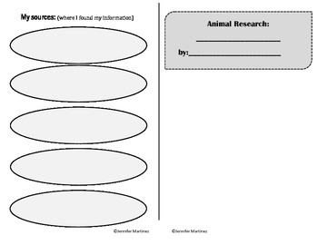 Animal Research Writing Booklets