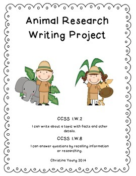 Animal Research Writing - CCSS Aligned