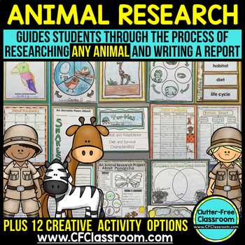 Animal Research Project DIGITAL and PRINTABLE for distance learning