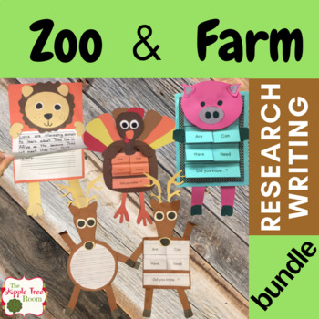 Animal Research, Writing, and Crafts Bundle