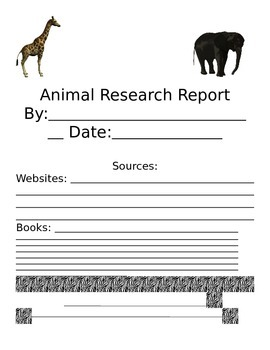 Animal Research Writing unit