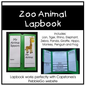 Animal Research - Zoo Animal Lapbooks