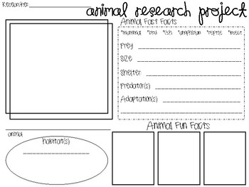 Animal Research Graphic Organizer By Yay3rdgrade Tpt border=
