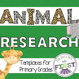 Animal Research templates for primary grades