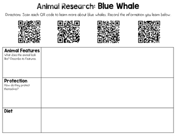 Animal Research with QR Codes