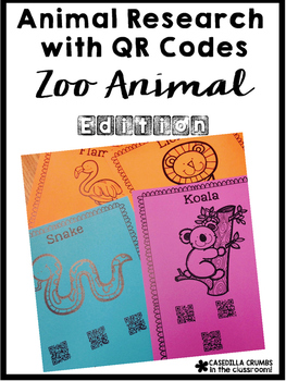 Animal Research with QR Codes Zoo Edition