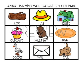 Animal Rhyming Mats