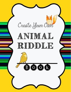 Animal Riddle Book Drafting Page for Descriptive Writing