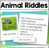 Animal Riddle Cards Inference, Key Details, and Vocabulary