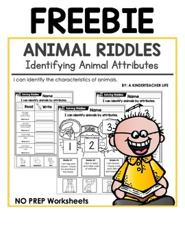 Animal Riddles Freebie